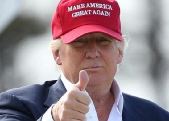 Trump in MAGA hat